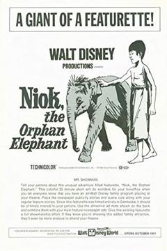 Best Documentary Movies of 1957 : Niok, The Orphan Elephant