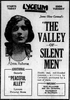 Best Action Movies of 1922 : The Valley of Silent Men