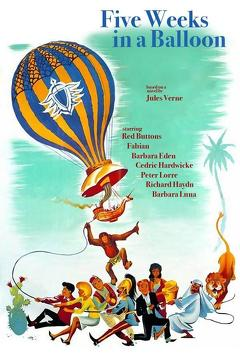 Best Adventure Movies of 1962 : Five Weeks in a Balloon
