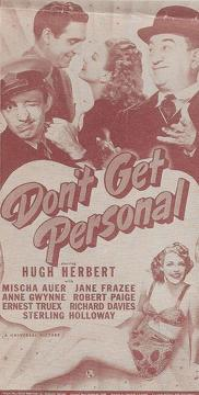 Best Music Movies of 1942 : Don't Get Personal