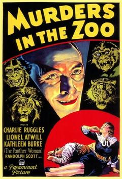Best Horror Movies of 1933 : Murders in the Zoo