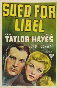 Best Mystery Movies of 1939 : Sued for Libel