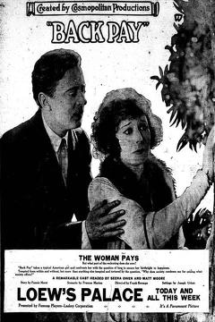Best Drama Movies of 1922 : Back Pay
