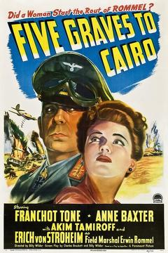 Best Thriller Movies of 1943 : Five Graves to Cairo
