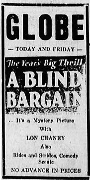 Best Science Fiction Movies of 1922 : A Blind Bargain