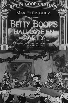 Best Horror Movies of 1933 : Betty Boop's Hallowe'en Party