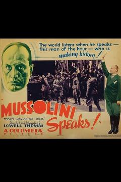 Best Documentary Movies of 1933 : Mussolini Speaks
