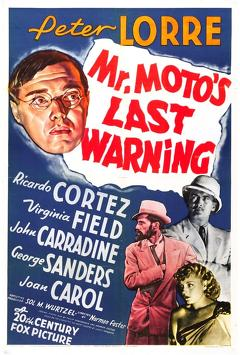 Best Mystery Movies of 1939 : Mr. Moto's Last Warning