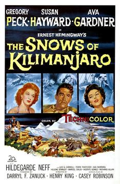 Best Action Movies of 1952 : The Snows of Kilimanjaro