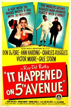 Best Romance Movies of 1947 : It Happened on Fifth Avenue
