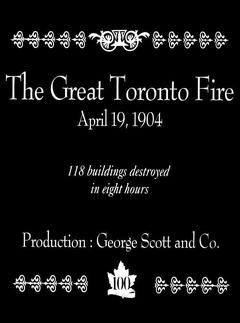 Best Movies of 1904 : The Great Toronto Fire, Toronto, Canada, April 19, 1904