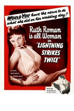 Best Mystery Movies of 1951 : Lightning Strikes Twice